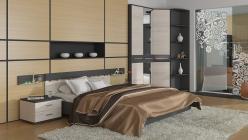 Комплект мебели для спальни Сити Тексит К1 (ТриЯ)