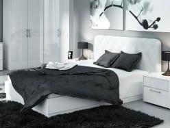Кровать Амели СМ-193.01.004 с мягкой спинкой и подъемным механизмом  (ТриЯ)