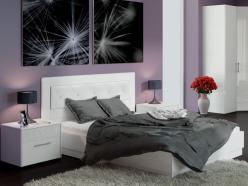 Кровать Амели СМ-193.01.006 с мягким изголовьем и подъемным механизмом (ТриЯ)