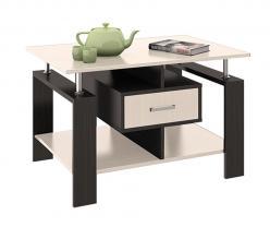 Журнальный столик Тип 3 [Венге Цава / Молочный дуб] (ТриЯ)