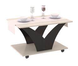 Журнальный столик Выкатной тип 4 [Венге Цава / Молочный дуб] (ТриЯ)