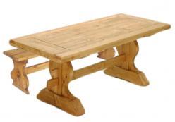 Комплект садовой мебели TABLE MONA 220 + BANCMONA [Массив сосны] (Волшебная сосна)