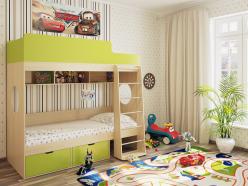 Детская кровать Милана 2 (дуб) (Милана-мебель)