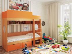 Детская кровать Милана 2 (бук) (Милана-мебель)