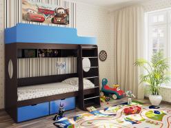 Детская кровать Милана 2 (венге) (Милана-мебель)