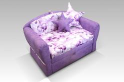 Детский минидиван Canvas Pelle violet (сиренев.) (Малина)