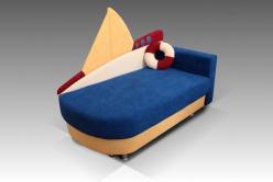 """Мини диван """"Кораблик"""" (Малина)"""