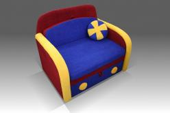 "Мини диван ""Машинка"" (Малина)"