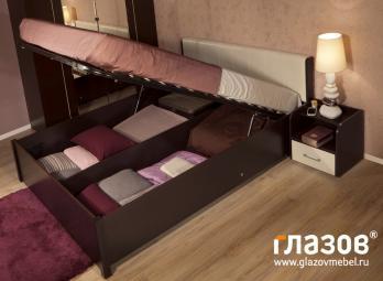 BERLIN31 Кровать (1800) + BERLIN31.2 Основание с подъемным механизмом (1800) (Глазов-мебель)Глазов-мебель BERLIN31 Кровать (1800) + BERLIN31.2 Основание с подъемным механизмом (1800)