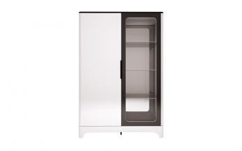 16 «Танго» Шкаф комбинированный 2-х дверный (Ижмебель)Ижмебель 16 «Танго» Шкаф комбинированный 2-х дверный