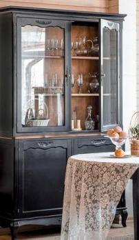 Прованс Буфет из дерева (черный состаренный) (Mobilier de Maison)Mobilier de Maison Прованс Буфет из дерева (черный состаренный)