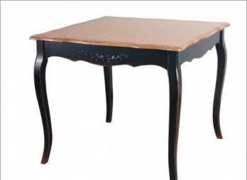 Прованс Стол чайный из дерева 90х90 (черный состаренный) (Mobilier de Maison)Mobilier de Maison Прованс Стол чайный из дерева 90х90 (черный состаренный)