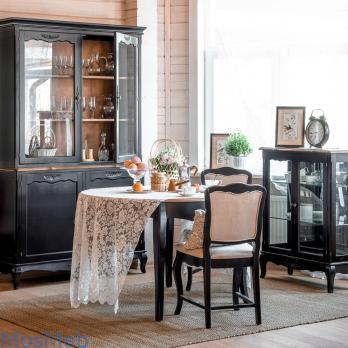 Мебель для гостиной комнаты Прованс черный (Mobilier de Maison)Mobilier de Maison Мебель для гостиной комнаты Прованс черный