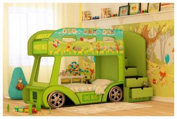 Кровать машина Автобус Винни - Стандарт (Ред Ривер)Ред Ривер Кровать машина Автобус Винни - Стандарт