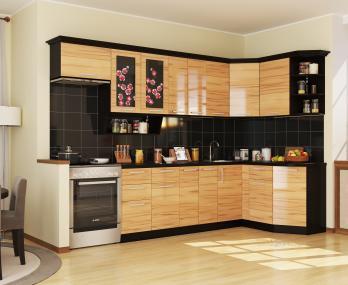 Угловая кухня Сакура 3 (РОСТ)РОСТ Угловая кухня Сакура 3