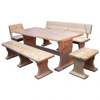 Комплект садовой мебели Московия (лак) К2 [Массив сосны (лак)] (МФДМ)МФДМ Комплект садовой мебели Московия (лак) К2 [Массив сосны (лак)]