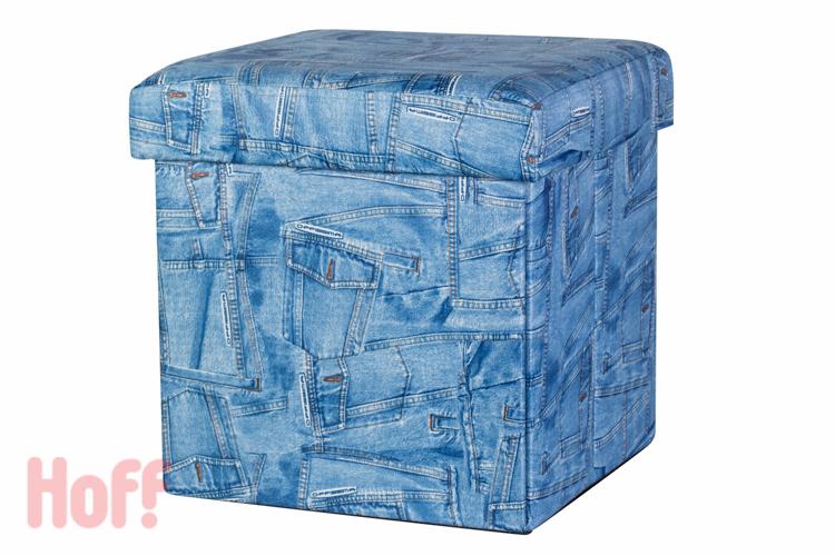 Пуфик из старых джинсов