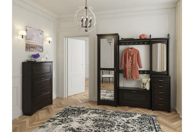 Шкаф для одежды с зеркальной дверью, прихожая мадрид