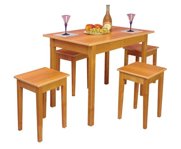 Обеденный стол на прямой ноге Топаз