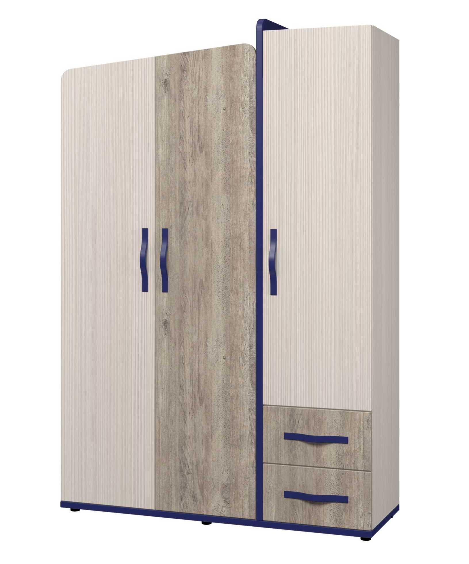 Шкаф для одежды 3-х дверный «Тайм» ИД 01.347