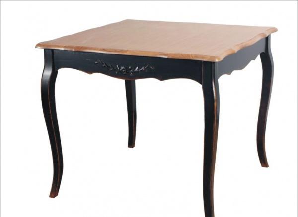 Прованс Стол чайный из дерева 90х90 (черный состаренный)
