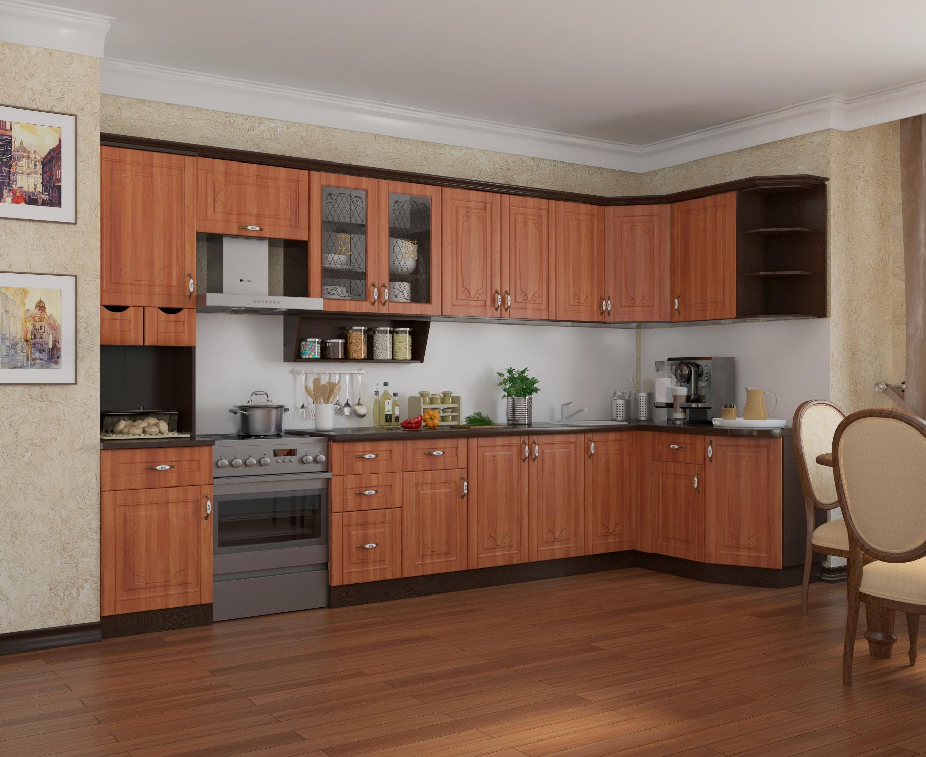 Угловая кухня Классика 4