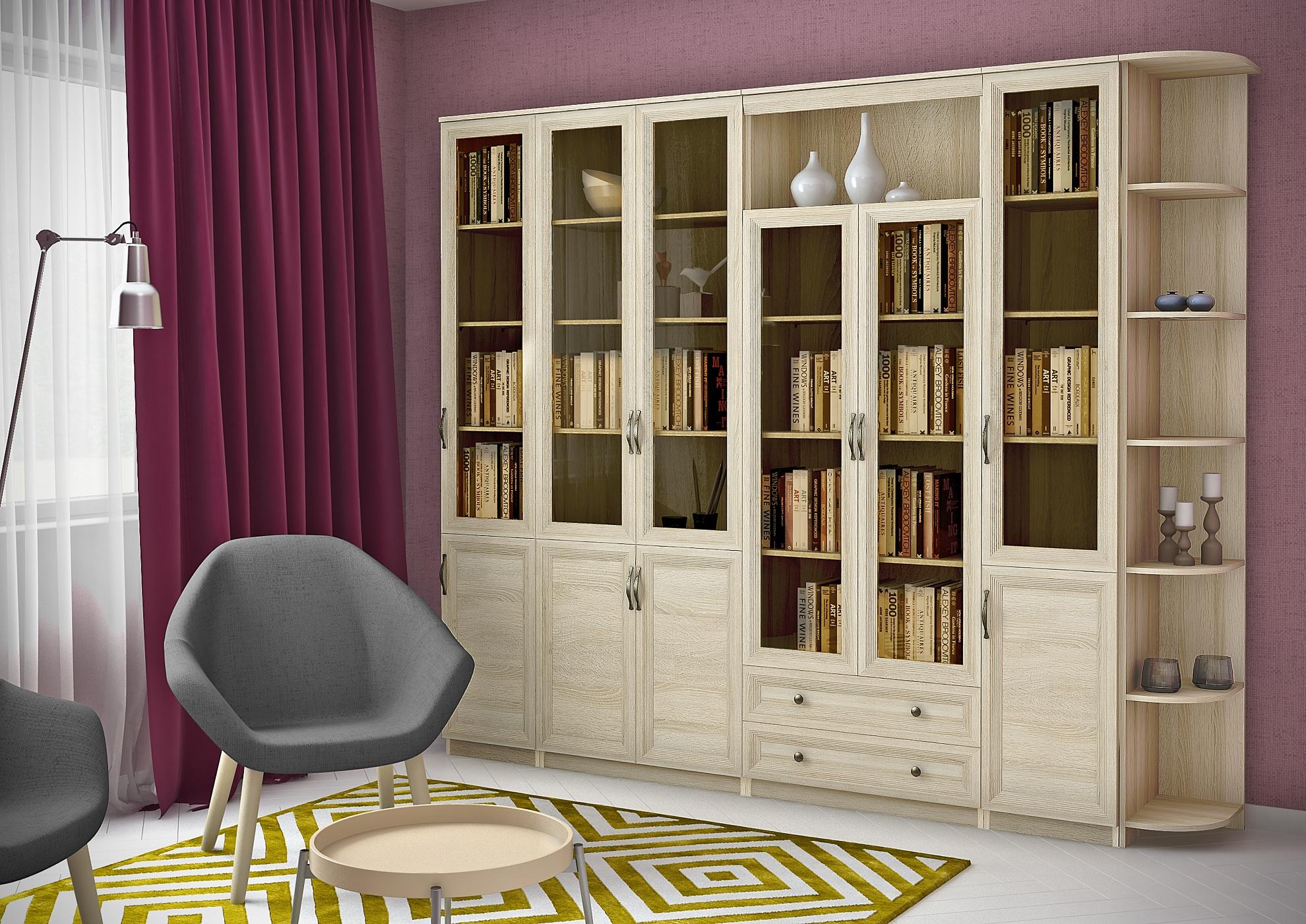 Библиотека лира 42 (дуб сонома) - цена: 44930 руб. купить не.