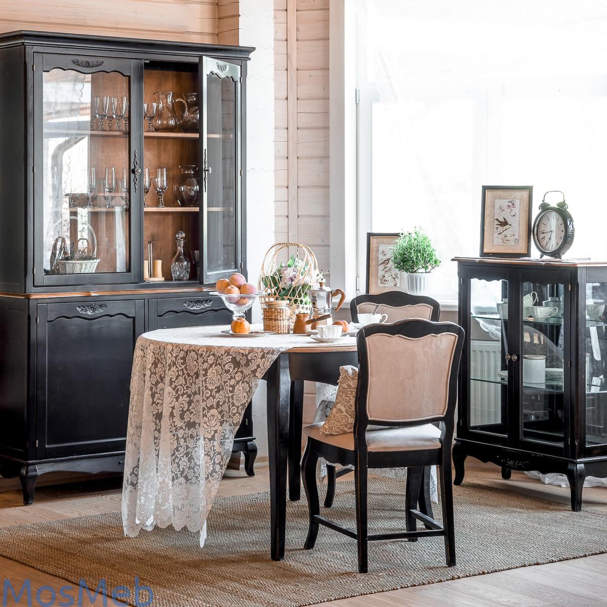 Мебель для гостиной комнаты Прованс черный
