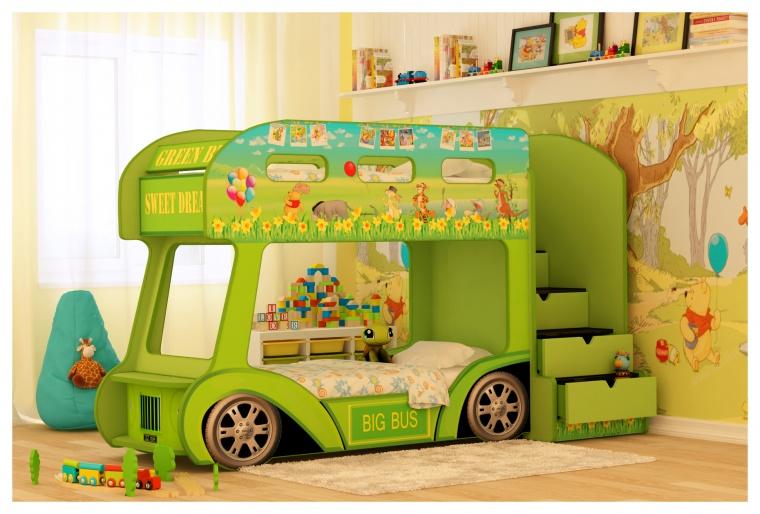 Кровать машина Автобус Винни - Стандарт