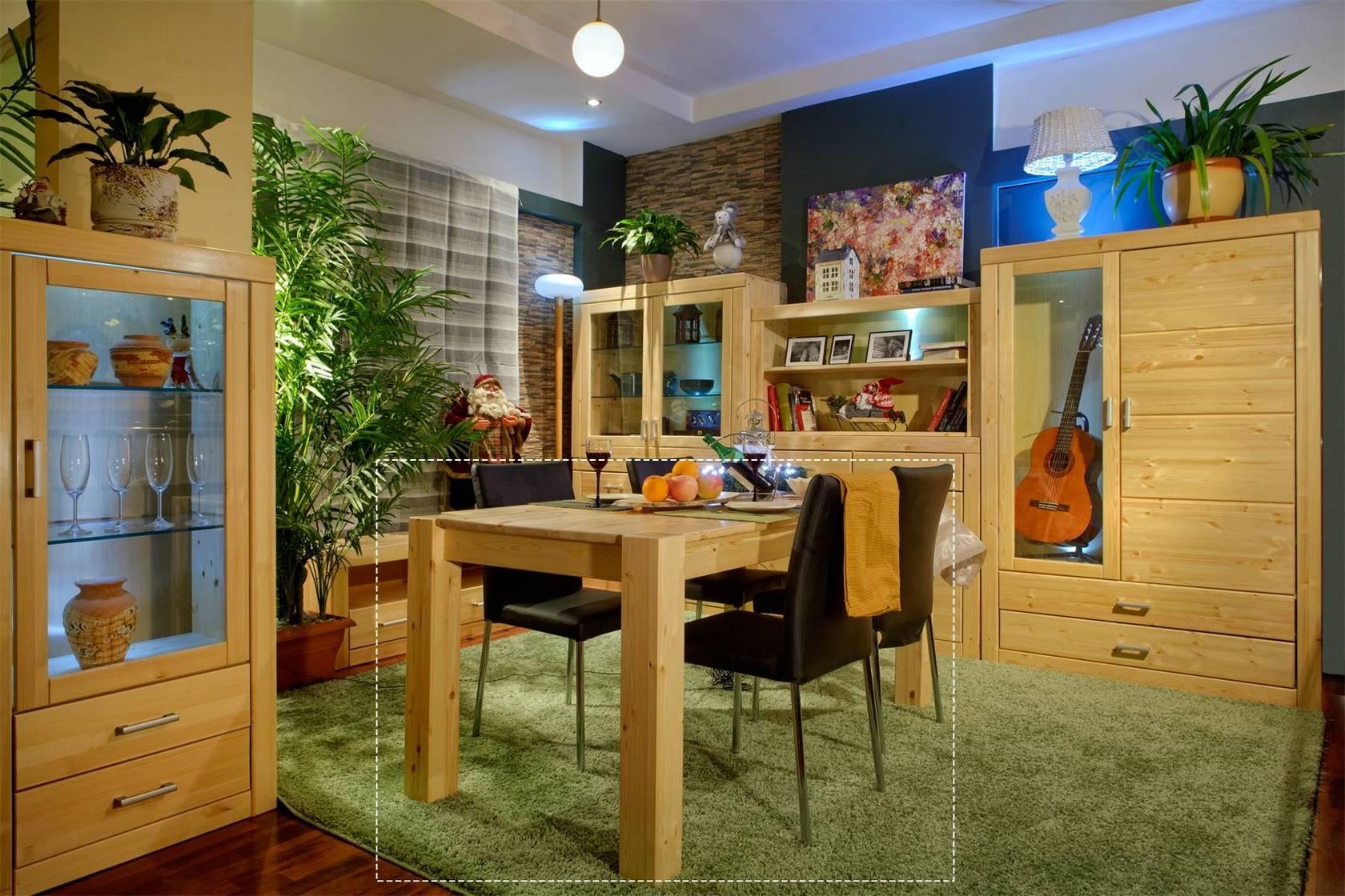 Обеденный стол Стол обеденный Брамминг [Бесцветный лак] (Timberica)