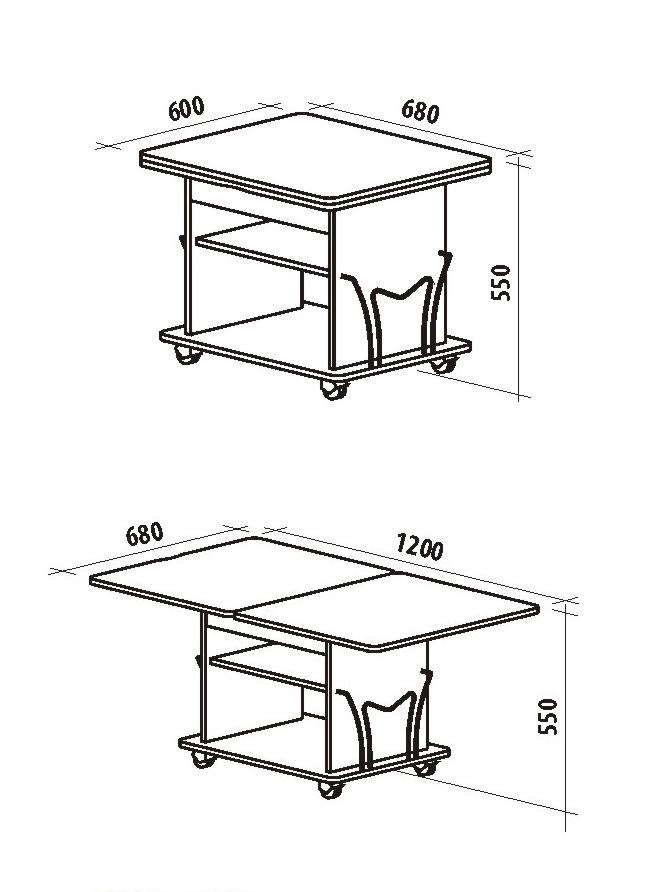 Журнальный столик размеры своими руками