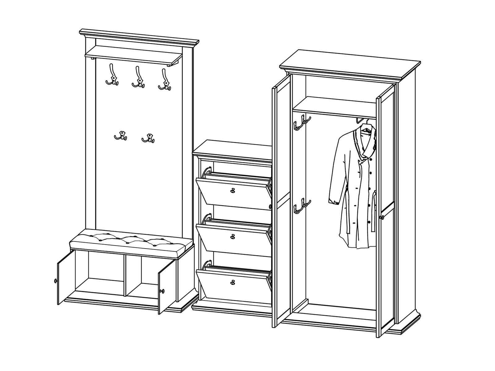картинки эскиз шкафа